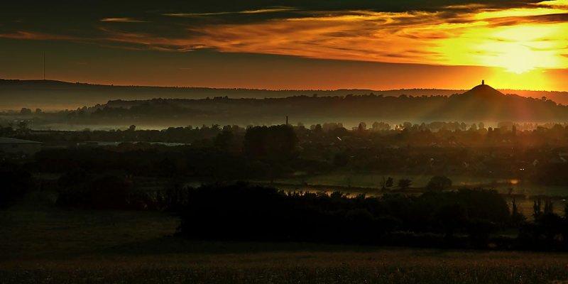 Sunrise over Glastonbury