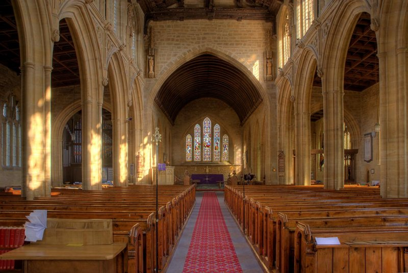 Inside All Saints, Martock, Somerset (1987)