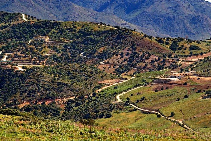 Roads around Casares, Andalucia