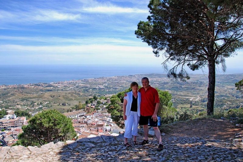 The two of us above Mijas