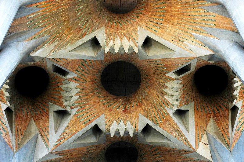 Ceiling detail, Familia Sagrada