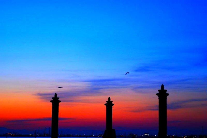 Crépuscule sur Venise.