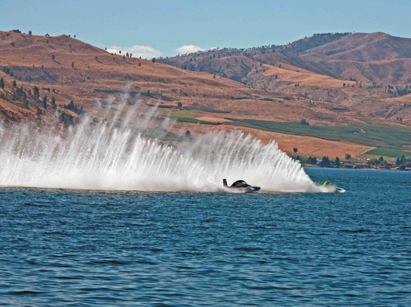 Rooster Tails With Beautiful Chelan Hills