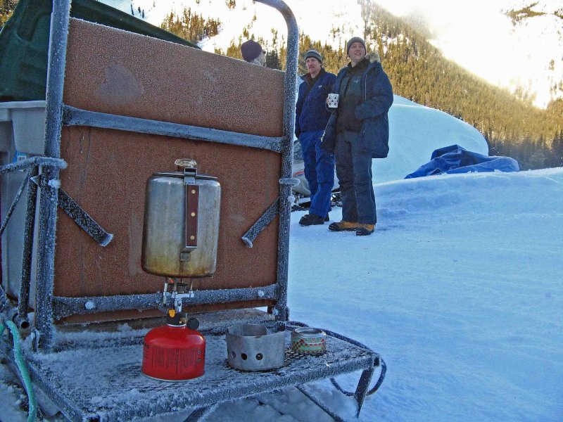 Coffee Perking On The Haul Sled