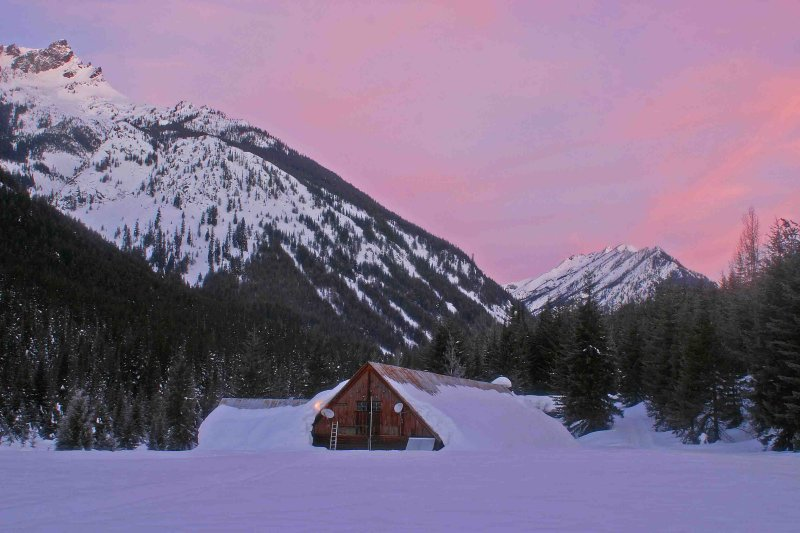 Trinity  Power House Barn With Morning  Alpenglow