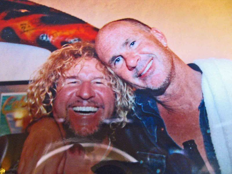 Sammy Hagar ( Left) ( Cabo Answer To Las Vegass Wayne Newton)