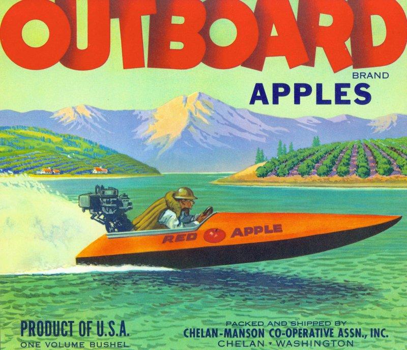 1950s Apple Box Label