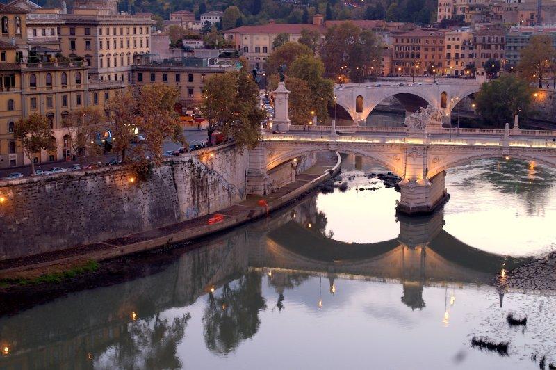 Tiber River from Castle St.Angelo