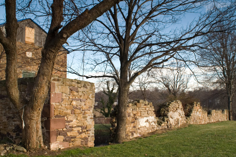 Stone Wall and Barn