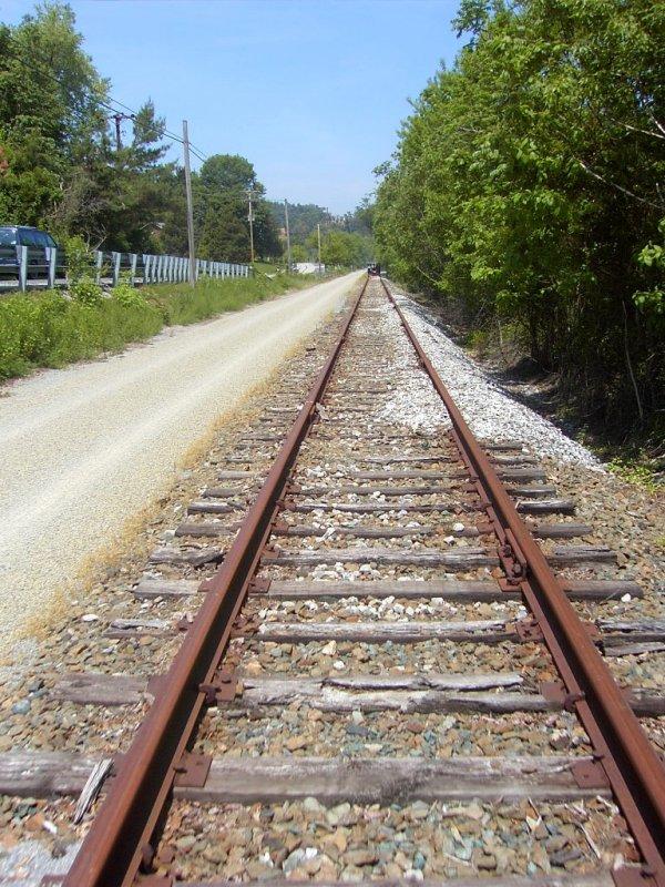 tracks ahead