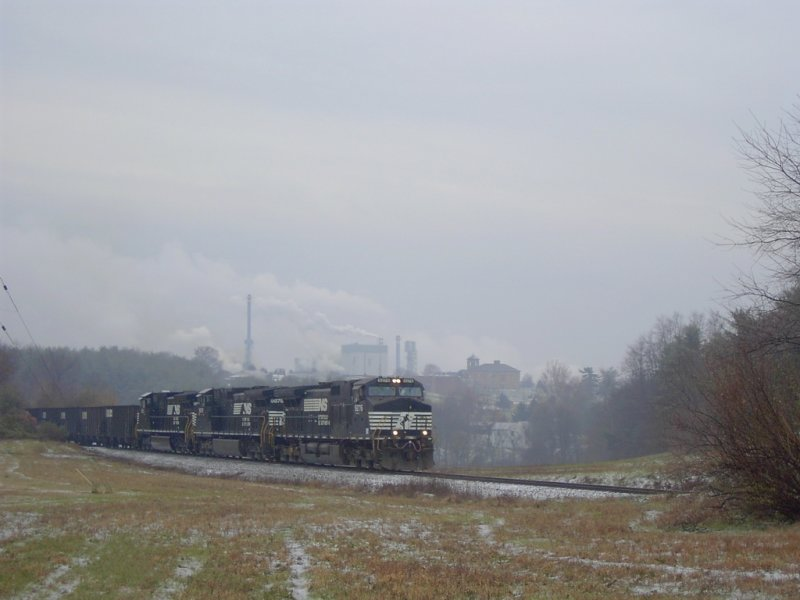Long black train -Leaving Spring Grove
