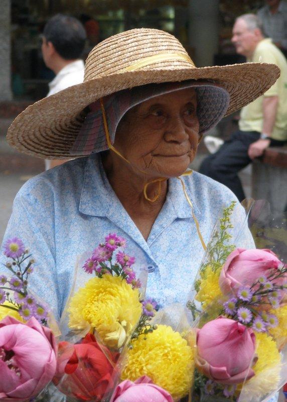 Flower seller, Waterloo Street