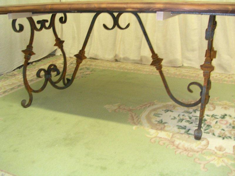 554.iron base of pine table.JPG