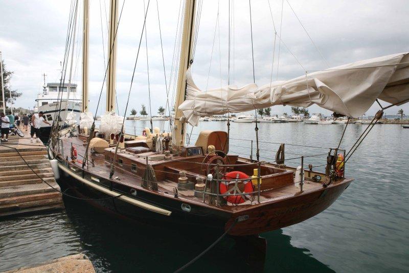 Spirit of Bermuda moored at Dockyard, Sandys parish, Bermuda
