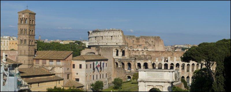 Colosseum/Forum Pano