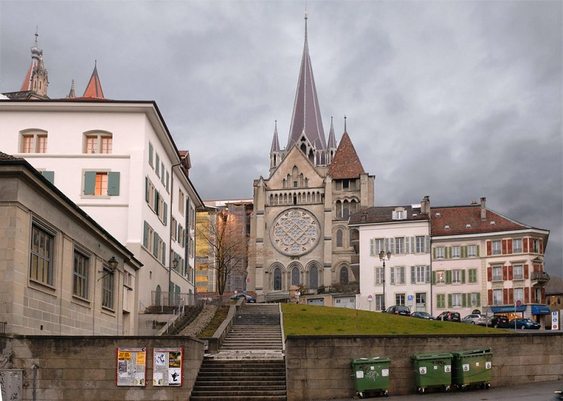 View of the Cathedral from Rue P. Viret