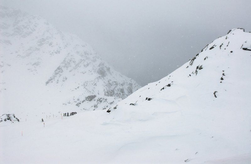 Snowfall at Col des Gentianes