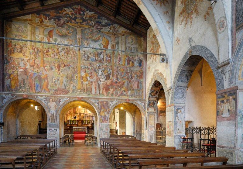 Interior of the Santa Maria degli Angioli Church