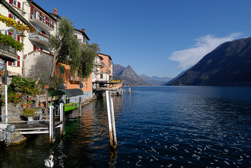 View East along Lake Lugano from Gandria