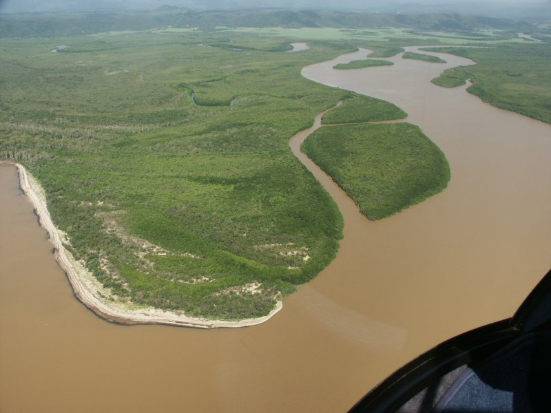Helicopter flight - Daintree river