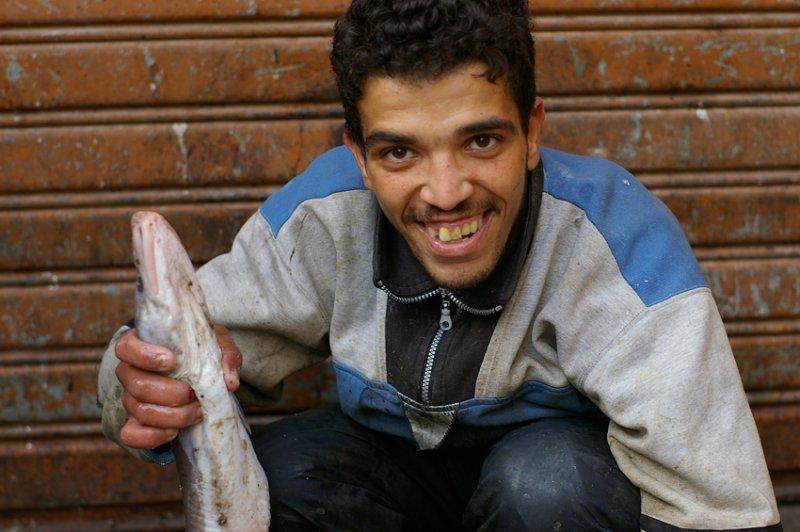 Fish salesman, Medina