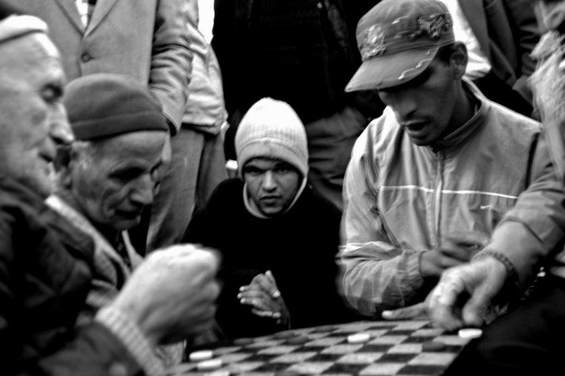 Playing checkers, Medina, Casablanca
