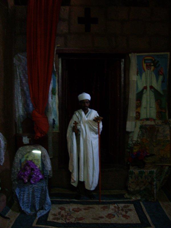 un monjo ortodox a Lalibella