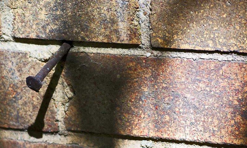 Bricks and nail