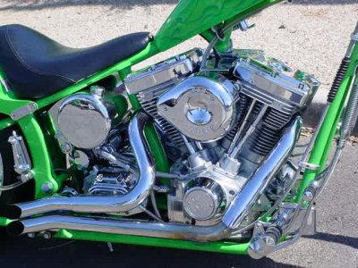 V-2 all chrome engine