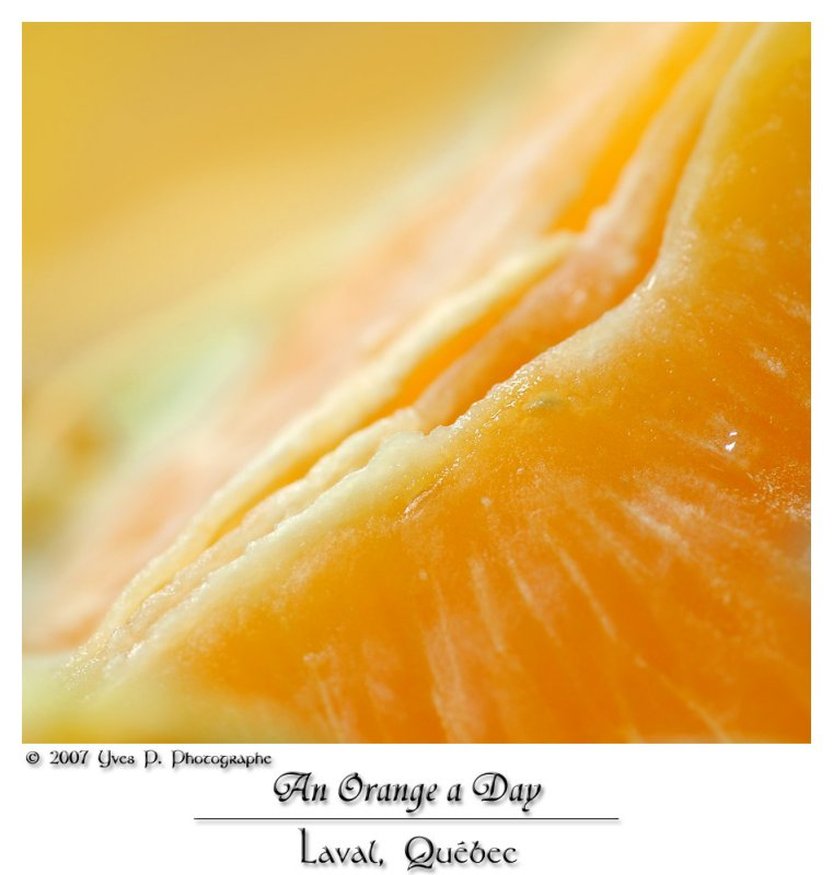 An Orange a Day ...