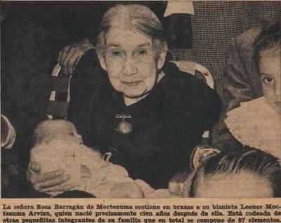 Rosa Barragán Piña a los 100 años de vida