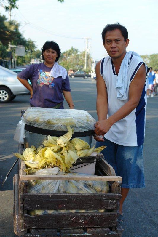 Sweet Corn Vendor/Couple