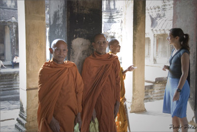 Monks At The Wat