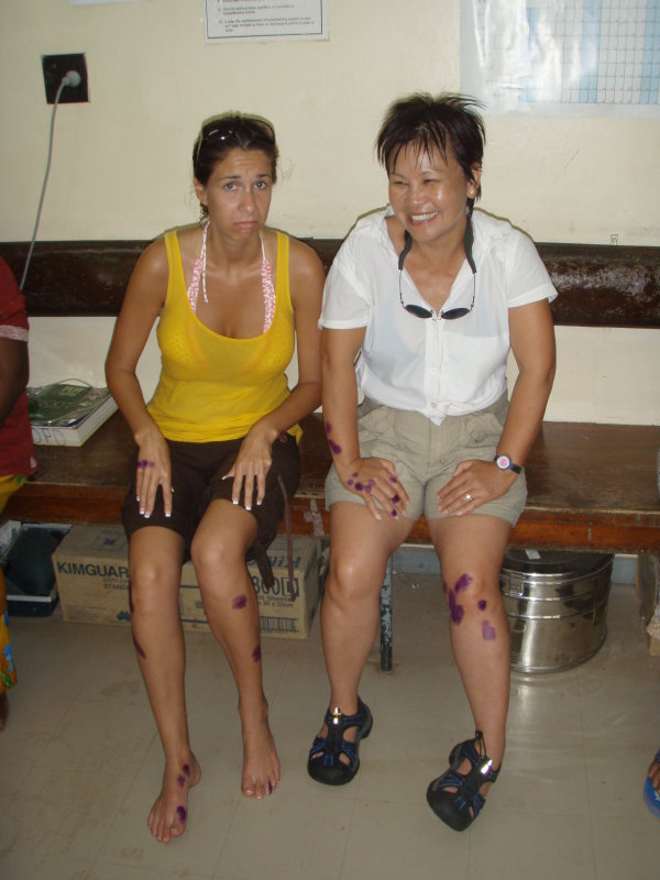 A day in Savusavu hospital- Katie and Lin survived after the rogue waves hit us!
