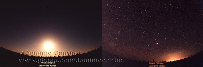 Comparaison Éclipse lunaire  /  Lunar eclipse comparison