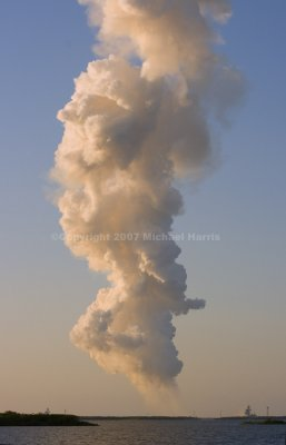 Space Shuttle Atlantis Launch Plume