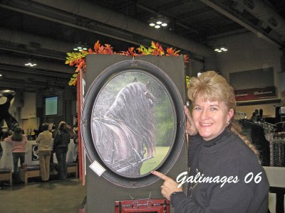 Gale with a Friesian painting