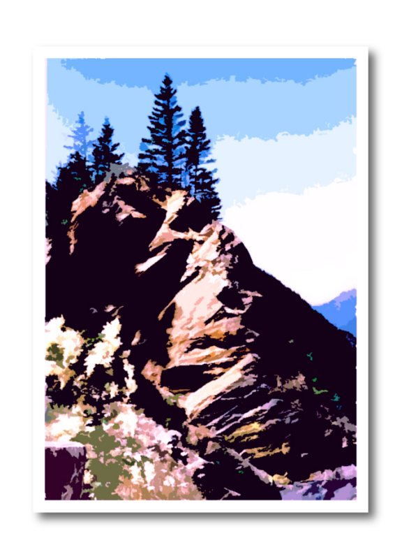 mountain pierris cutout