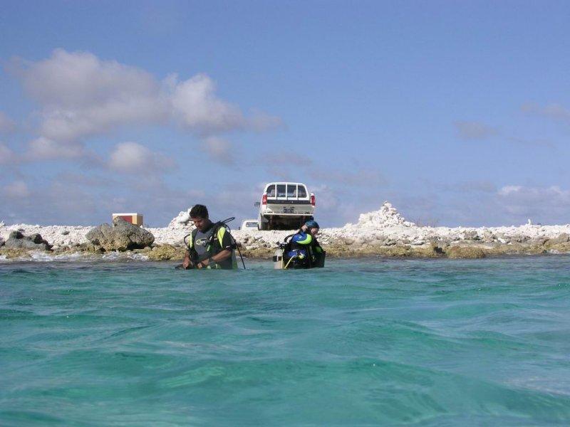 buceo de orilla