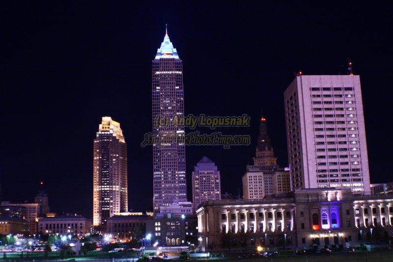 Cleveland, Ohio at night