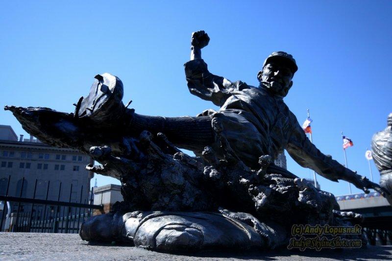 Ty Cobb statue at Comerica Park  - Detroit, MI