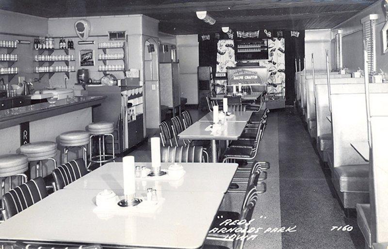 Reds Cafe Interior 1950s