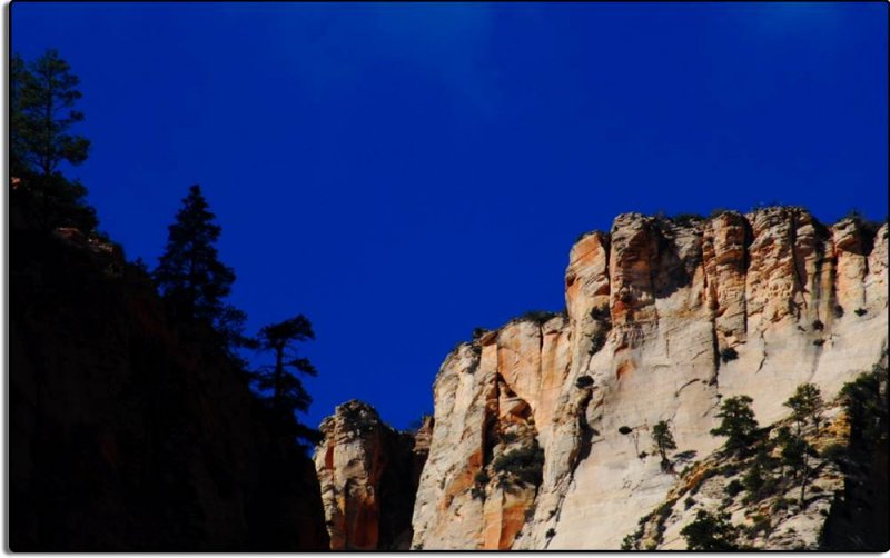 We Enter Zion National Park