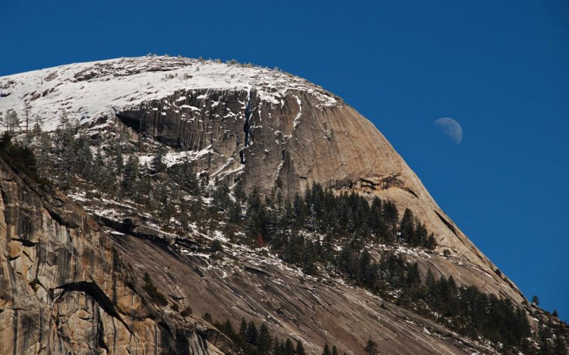 North Dome and the Moon