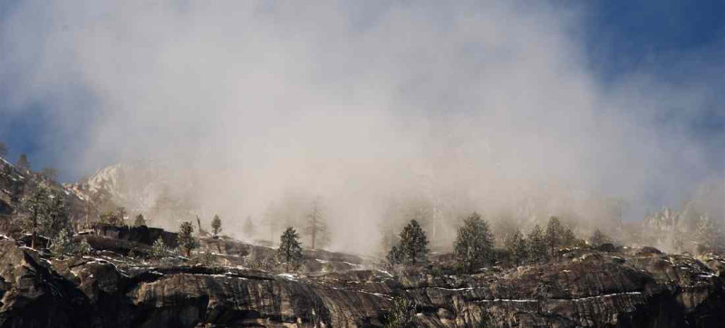 Mist Forms Above Yosemite Valley