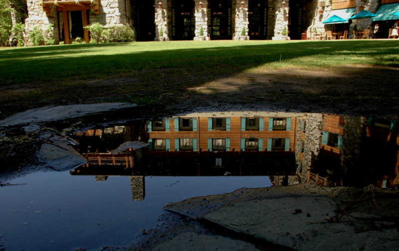 Ahwahnee Hotel in Reflection