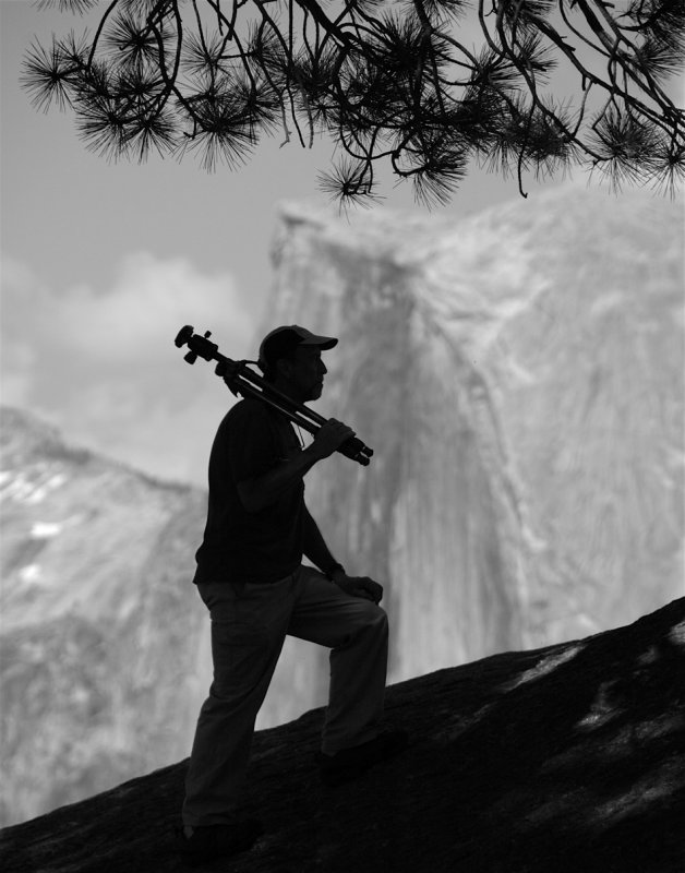 My Portrait at Glacier Point - by Christine Krieg