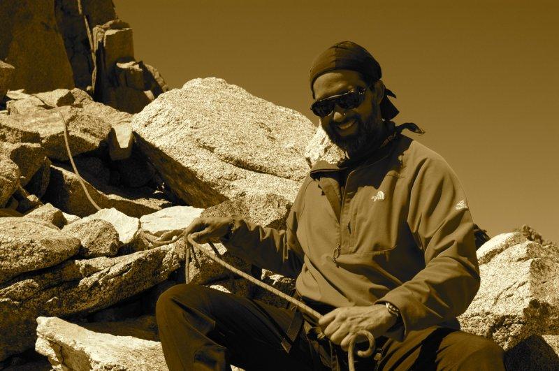 I meet Javier near the crux of the climb
