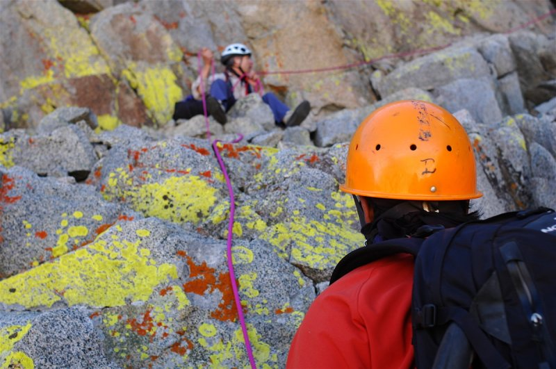 Climbing can be a colorful sport