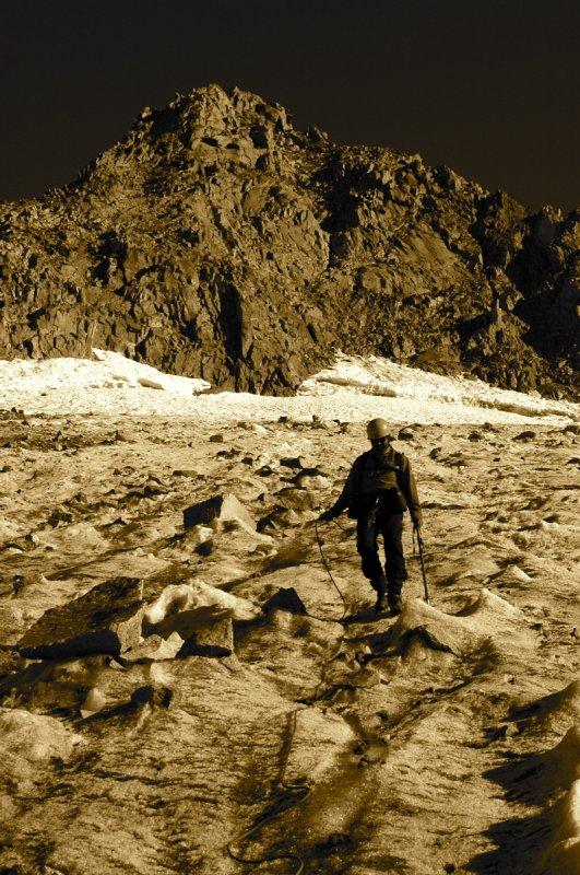 Coming off the Palisade Glacier